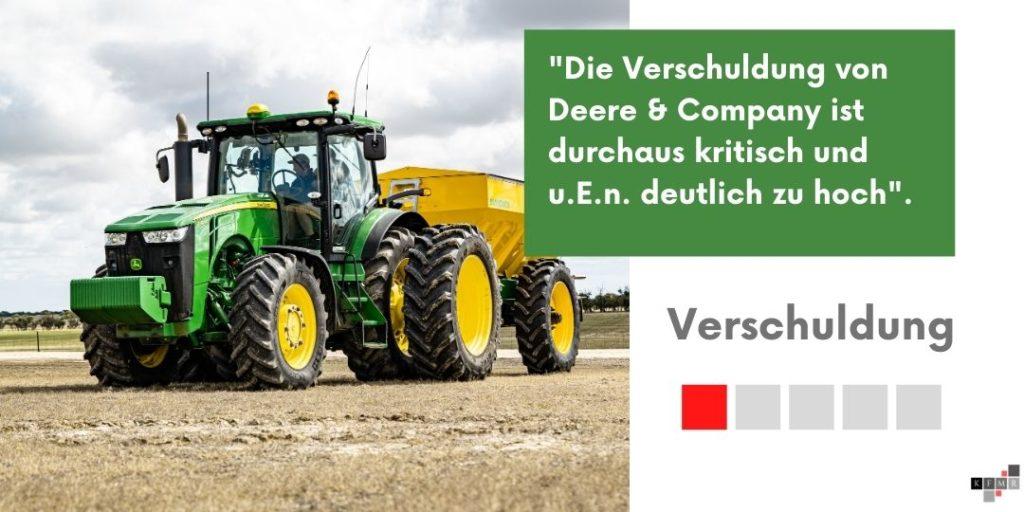 Deere & Company Verschuldung Ergebnis