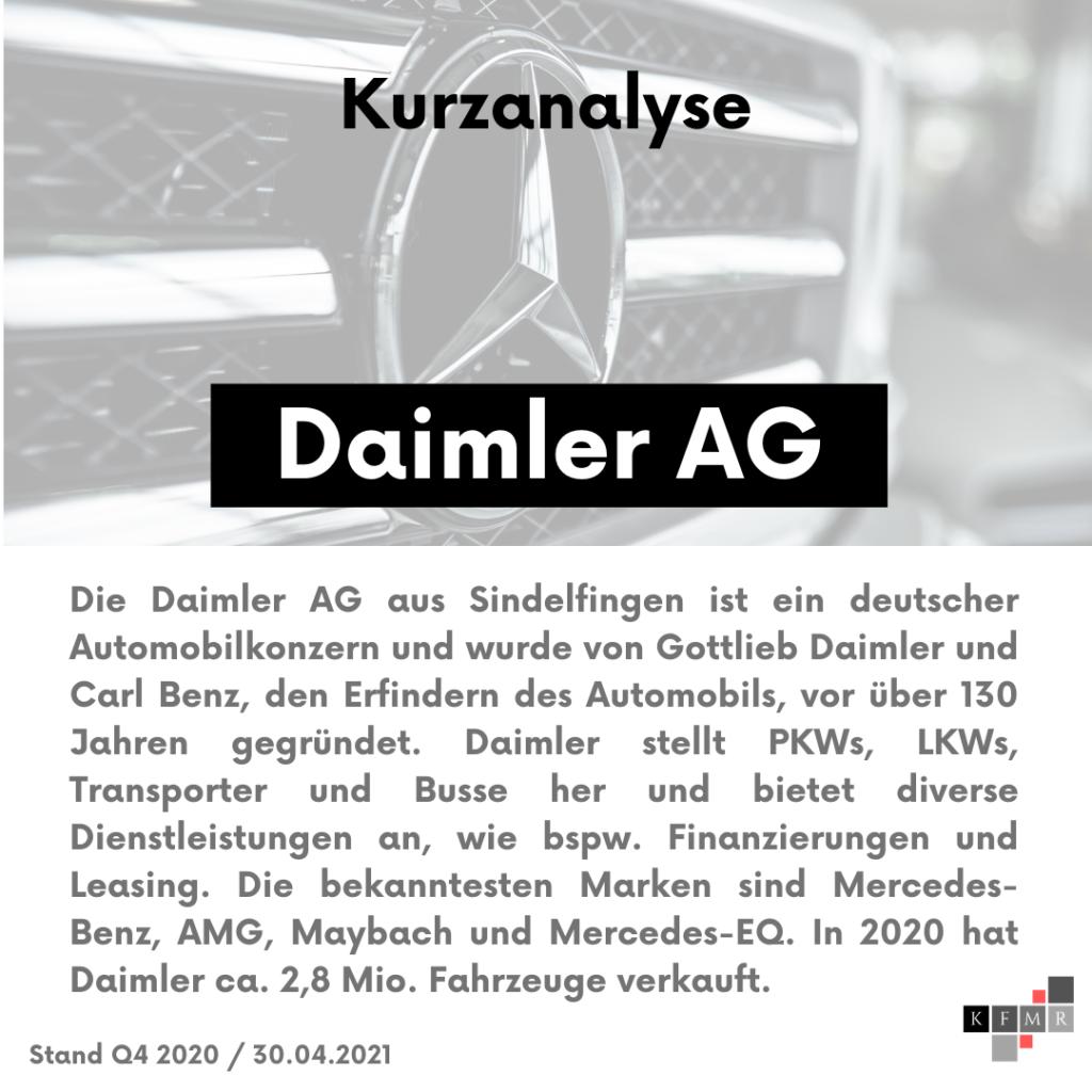 Unternehmensbeschreibung Daimler AG