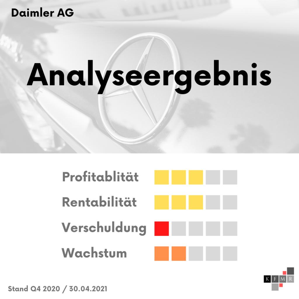 Ergebnis Aktienanalyse Daimler AG Aktie