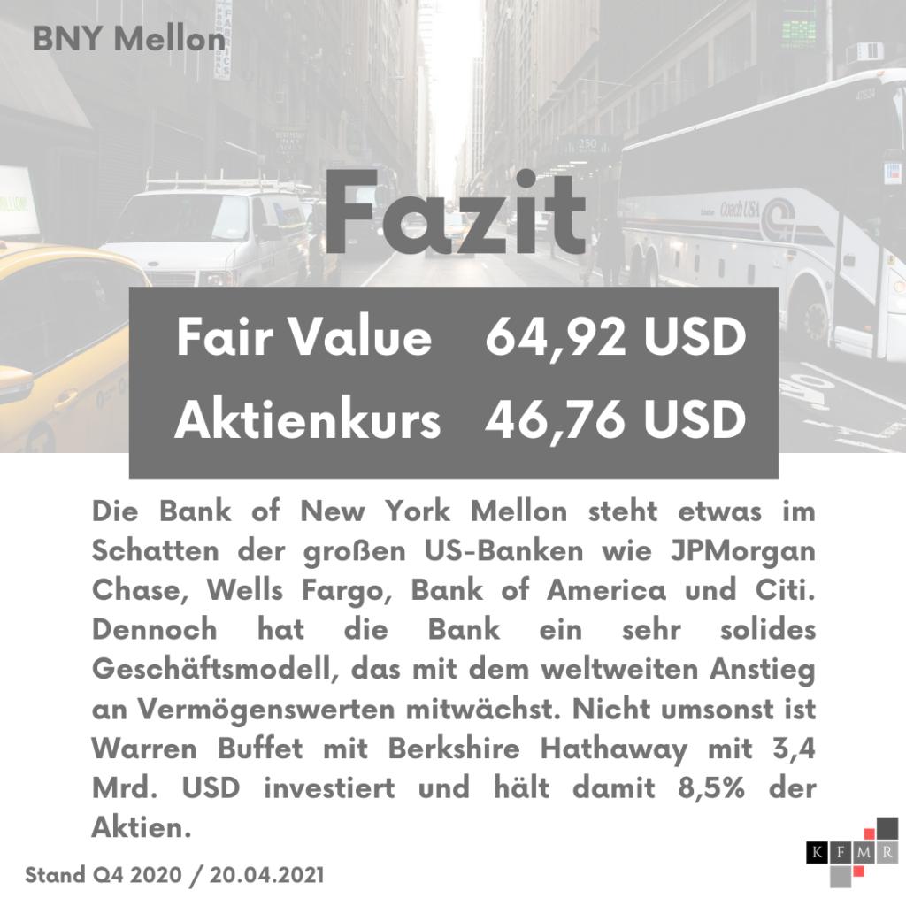 Fazit Analyse der Bank of New York Mellon Aktie