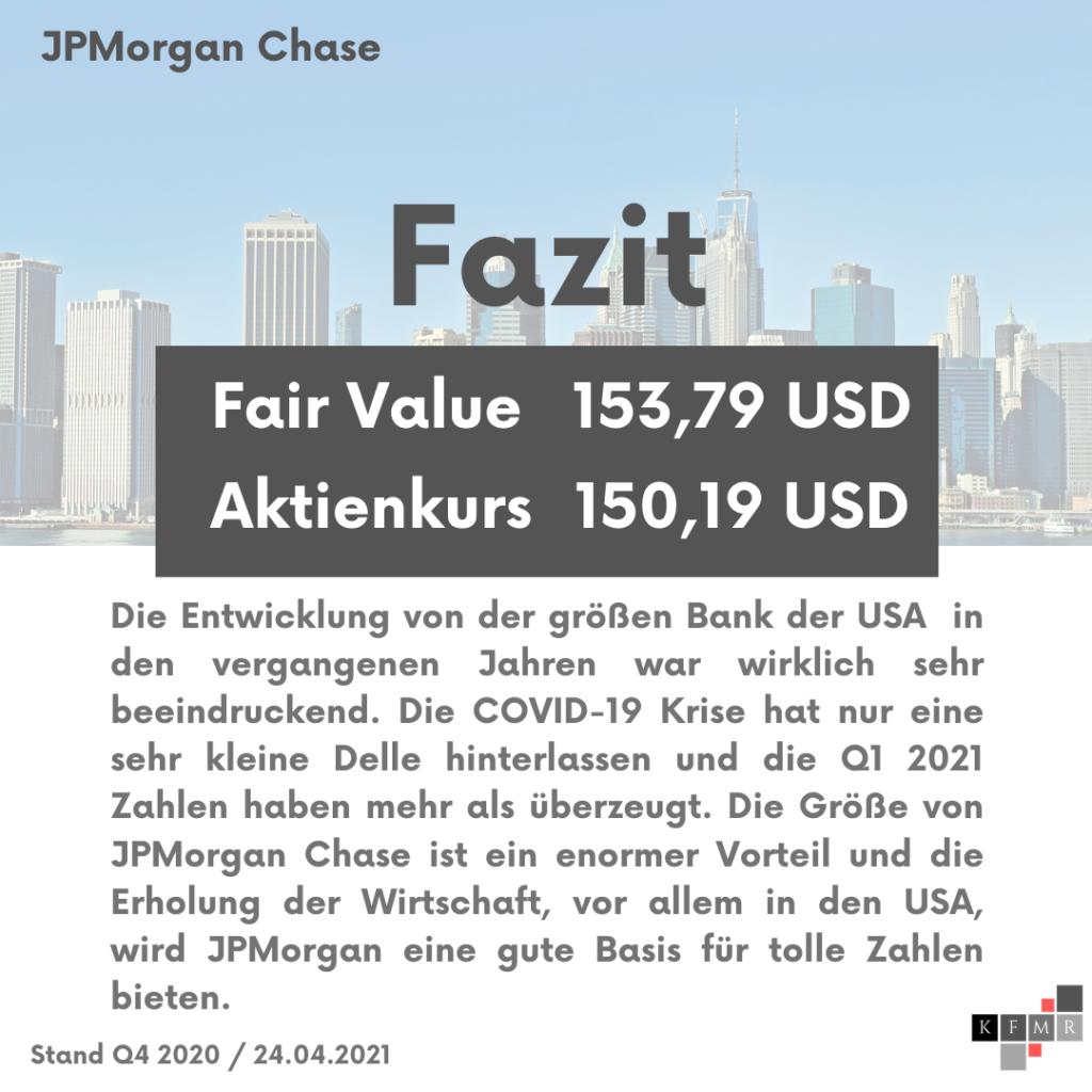 Fazit Analyse der JPMorgan Chase Aktie
