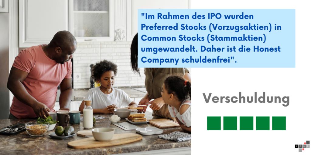 Honest Company Aktie IPO Verschuldung
