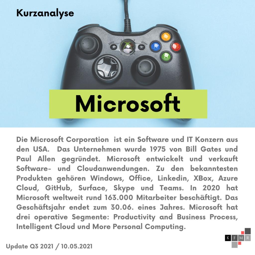Unternehmensbeschreibung Microsoft
