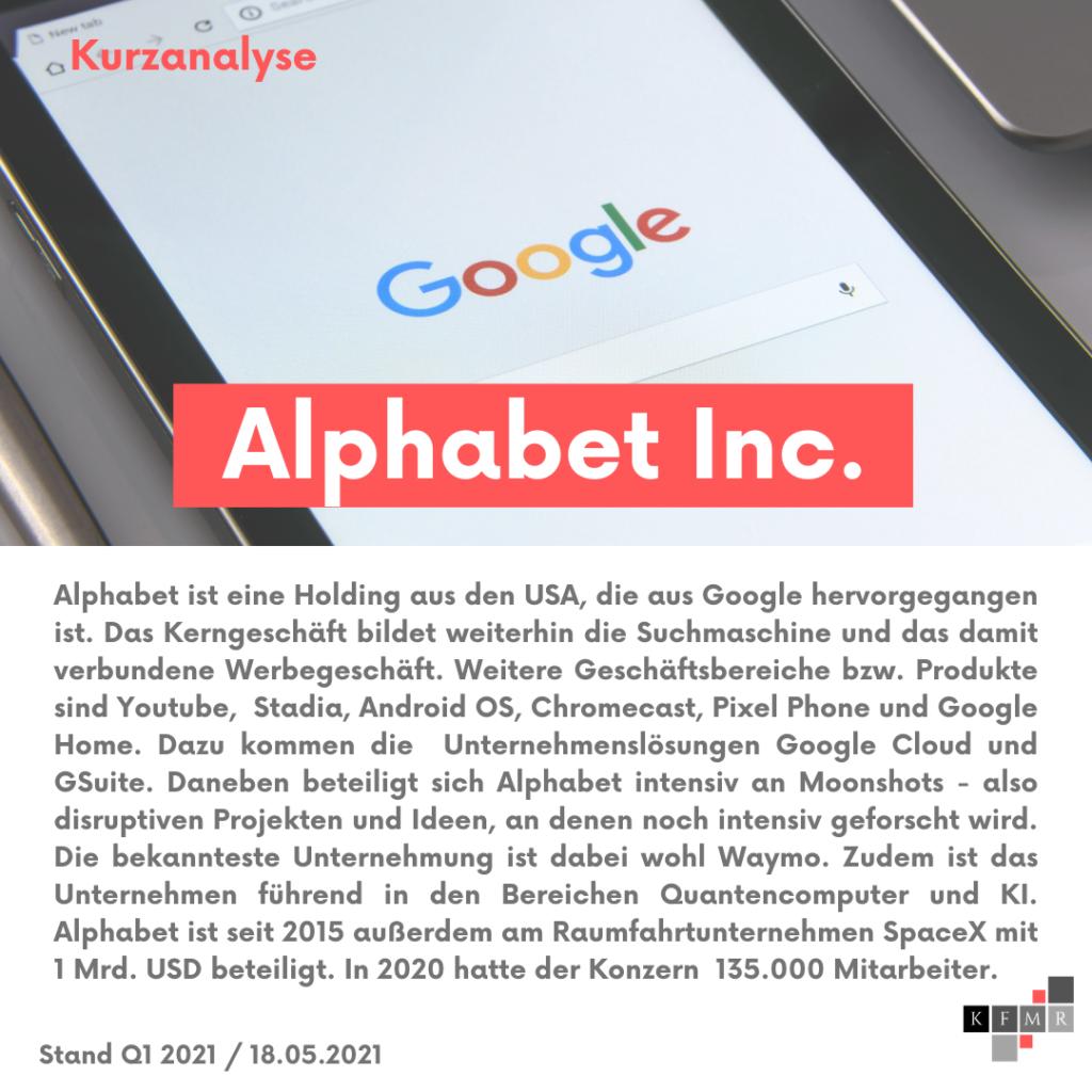 Unternehmensbeschreibung Alphabet