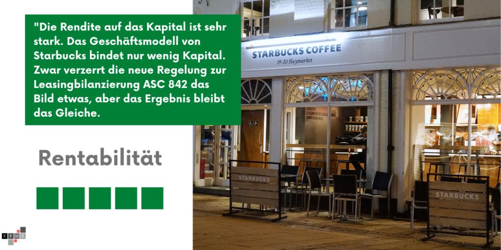 Starbucks Aktie 2021 Rentabilität