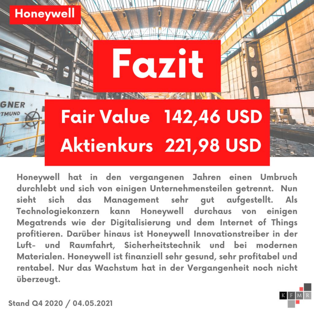 Fazit Analyse der Honeywell Aktie