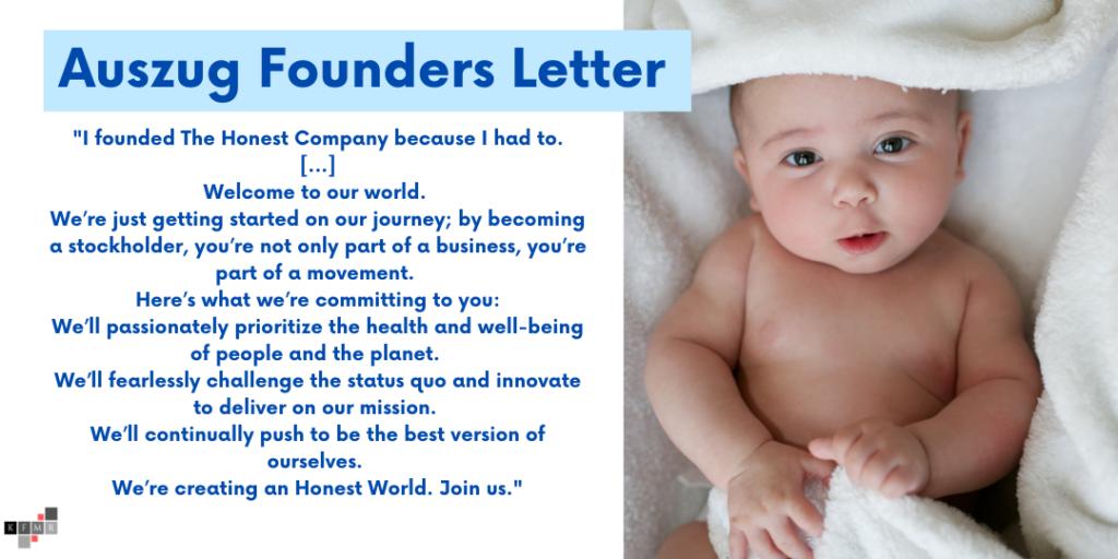 Honest Company Aktie IPO Founders Letter Jessica Alba