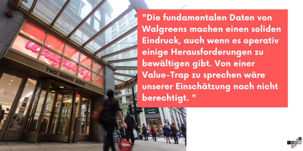 Walgreens Boots Alliance Aktie DCF Fair Value Aktienanalyse Fundamentale Analyse Dividende Dividendenaristokrat