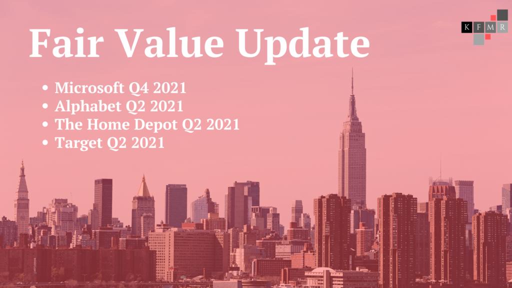 Fair Value Update